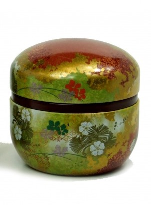 "Japanese Tea Tin ""Suzuko"" red"