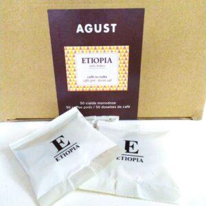 """Espresso pods Agust """"Ethiopia"""" 50 bags"""