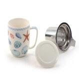 "Herb Tea Mug ""Sea Shells"""