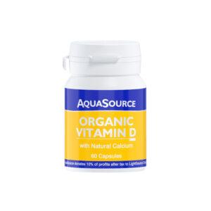 AquaSource Organic Vitamin D 60 Veg Caps